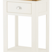 Portland Oak 1 Drawer Telephone Table with Drawer - The Rocking Chair