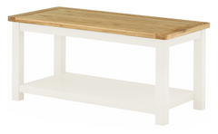 Portland Oak Coffee Table with Shelf - The Rocking Chair