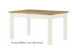 Portland Oak Butterfly Extending Dining Table - The Rocking Chair