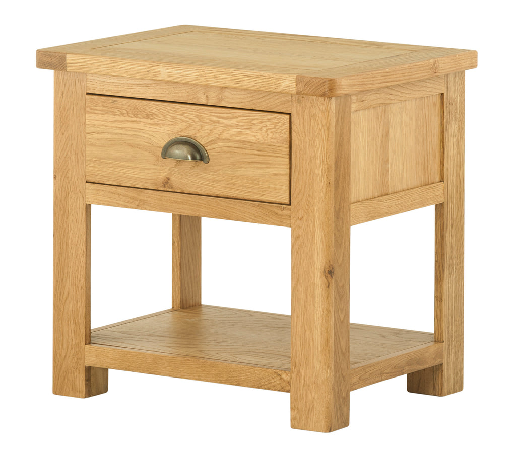 Portland Oak Lamp Table with drawer - The Rocking Chair