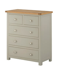 Portland Oak Painted 2 over 3 Chest of Drawers - The Rocking Chair