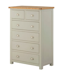 Portland Oak 2 over 4 Chest of Drawers - The Rocking Chair