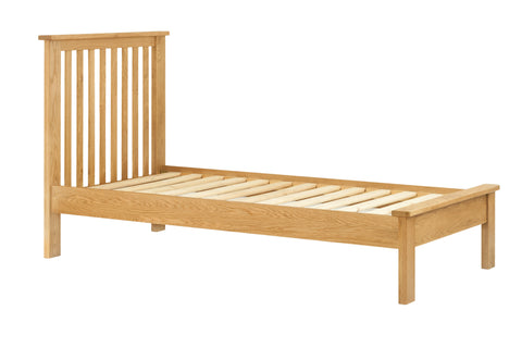 Portland Oak Bed Single Double & King Sized
