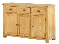 Portland Oak 3 Door 3 Drawer Sideboard - The Rocking Chair