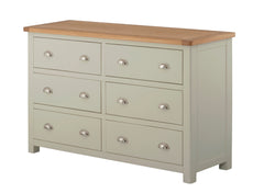 Portland Oak 6 Drawer Wide Chest of Drawers - The Rocking Chair