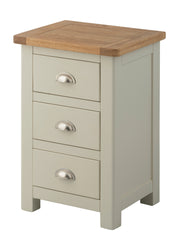 Portland Oak 3 Drawer Bedside - The Rocking Chair