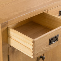 Oakhampton Oak 3 Door 3 Drawer Sideboard