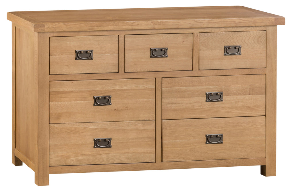 Oakhampton Oak 3 Over 4 Chest of Drawers
