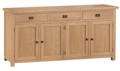 Oakhampton Oak 4 Door 3 Drawer Sideboard
