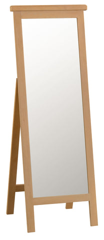 Oakhampton Oak Trestle Style Cheval Mirror