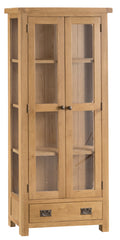 Oakhampton Oak Glazed Display Cabinet