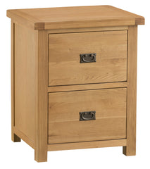 Oakhampton Oak 2 Drawer Filing Cabinet