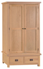 Oakhampton Oak 2 Door Gents Wardrobe with Drawers