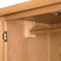 Oakhampton Oak 2 Door Wardrobe with Drawers