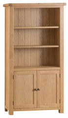 Oakhampton Oak Large Bookcase with Doors