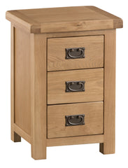 Oakhampton Oak Large 3 Drawer Bedside