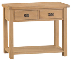 Oakhampton Oak 2 Drawer Console Table