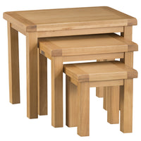 Oakhampton Oak Nest of 3 Table