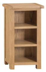 Oakhampton Oak Low Narrow Bookcase