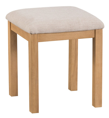 Oakhampton Oak Padded Seat Bedroom Stool