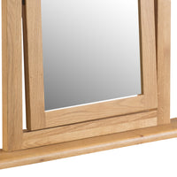 Oakhampton Oak Dressing Table Vanity Mirror