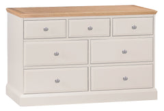 Dorset Oak Painted 3 Over 4 Drawer Chest of Drawers