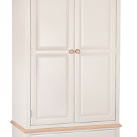 Dorset Oak Painted 1 Drawer 2 Door Wardrobe
