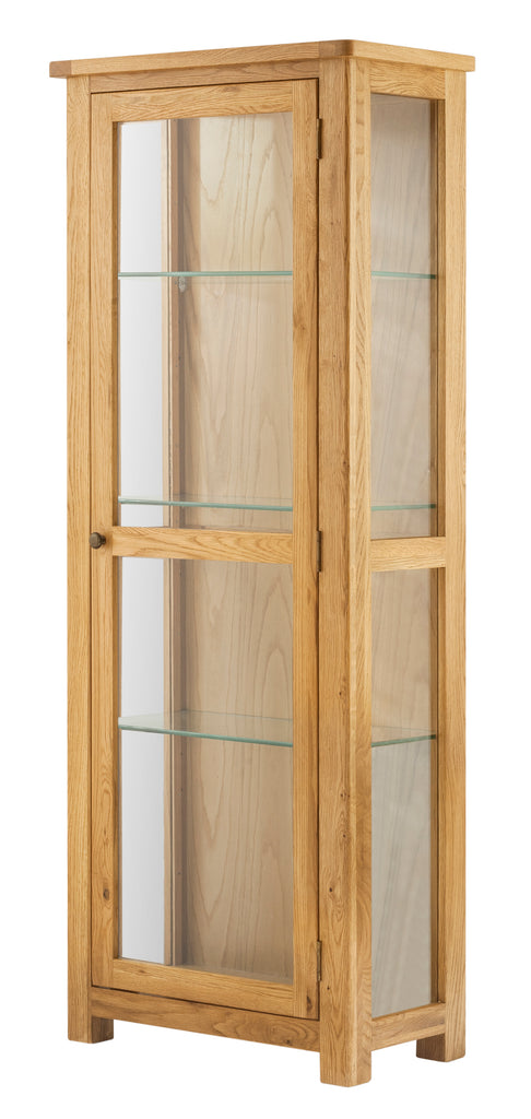 Portland Oak Glazed Display Cabinet 1 Door - The Rocking Chair