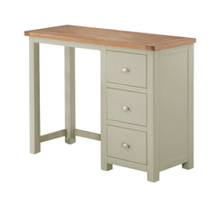 Portland Oak Single Pedestal Dressing Table - The Rocking Chair