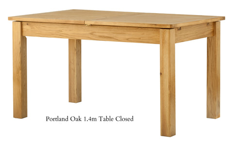 Portland Oak Butterfly Extending Dining Table