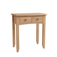 Gower Oak Bedroom 2 Drawer Dressing Table
