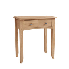 Gower Oak Bedroom 2 Drawer Oak Dressing Table