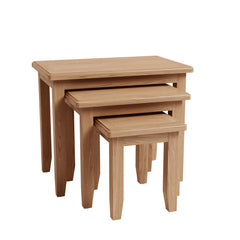 Gower Oak Dining Nest of 3 Occasional Tables