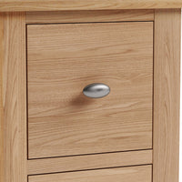 Gower Oak Bedroom 2 Drawer Oak Bedside