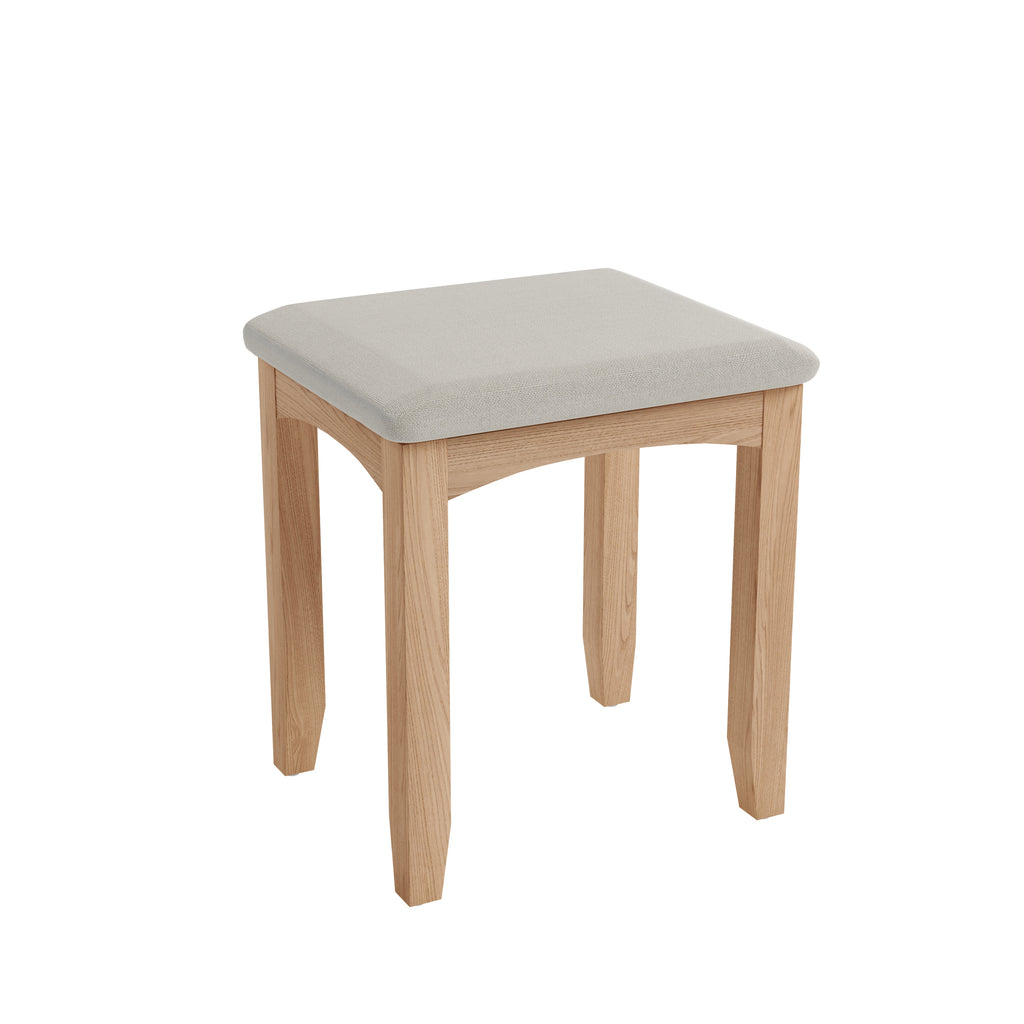Gower Oak Bedroom Padded Oak Bedroom Stool