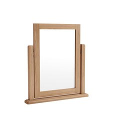 Gower Oak Bedroom Swivel Dressing Table Mirror