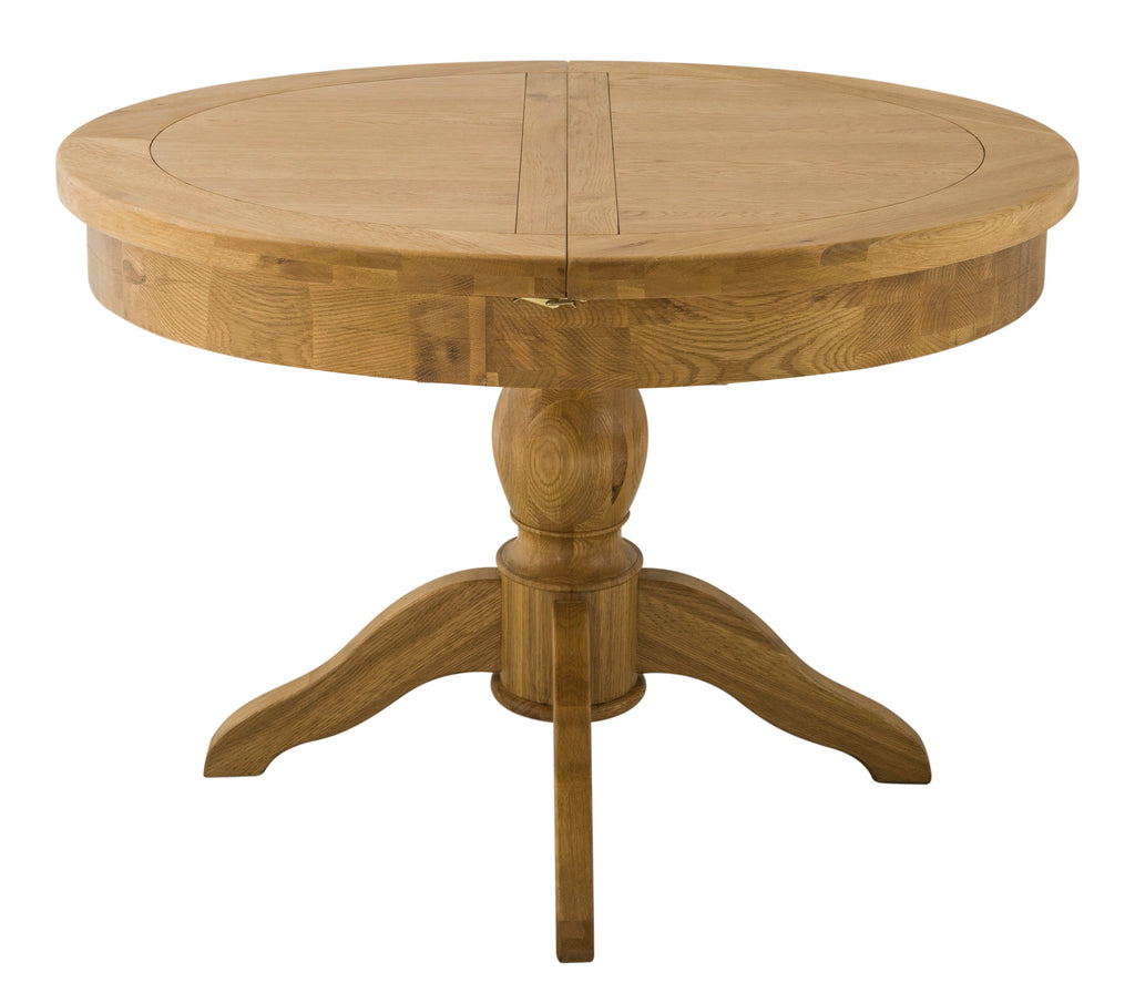 Portland Oak Grand Round Butterfly Extending Dining Table - The Rocking Chair