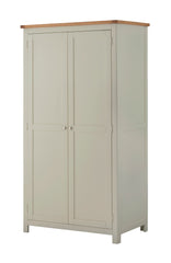 Portland Oak Full Hanging 2 Door Wardrobe - The Rocking Chair