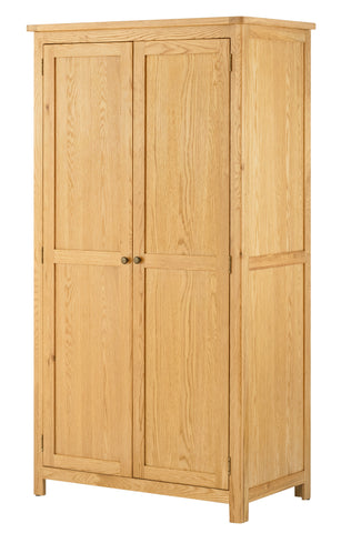 Portland Oak Full Hanging 2 Door Wardrobe