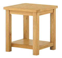 Portland Oak Lamp Table with shelf - The Rocking Chair