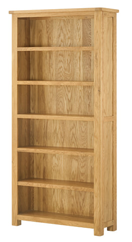 Portland Oak Tall Wide Bookcase