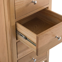Oslo Oak 4 Drawer Narrow Chest of Drawers