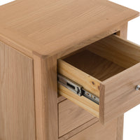 Oslo Oak 3 Drawer Large Bedside