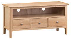 Oslo Oak Large 3 Drawer TV Cabinet