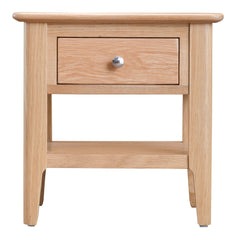 Oslo Oak Lamp Table with Drawer