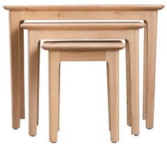 Oslo Oak Nest of 3 Tables