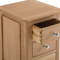 Oslo Oak 3 Drawer Small Bedside