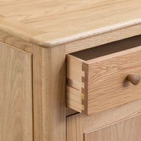 Oslo Oak Small 2 Door 1 Drawer Sideboard