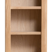 Oslo Oak Small Narrow Bookcase
