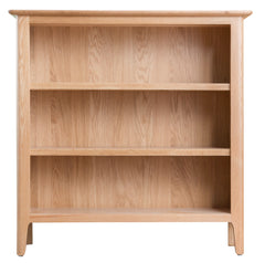 Oslo Oak Small Wide Bookcase